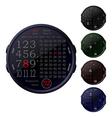digital clocks vector image vector image