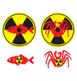 radioactive fish vector image vector image