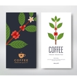 Packaging design coffee vector image