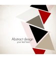 Abstract design with triangles vector image