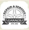 auto wheel garage vector image