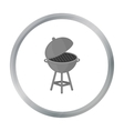 Barbecue icon in cartoon style isolated on white vector image