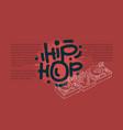 hip hop design with a dj sound mixer and vector image
