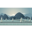Mountain seamless background for vector image