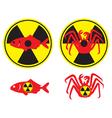 radioactive fish vector image