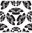 Seamless flowers melon survival symbol in Japan vector image