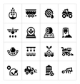 Set icons of agriculture vector image