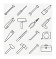 Tool icons vector image