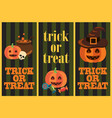 trick or treat vertical images vector image