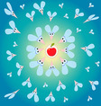 Funny flies with the big eyes and fly wings on a vector image