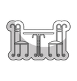 wrought iron frame isolated icon vector image