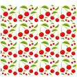 cherry fruit seamless pattern design vector image