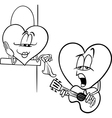 heart love song cartoon coloring page vector image