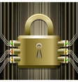 The electronic lock vector image