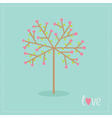 Love tree with hearts and leaves Flat design vector image vector image