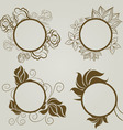 vintage frames autumn leafs vector image vector image