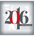 2016 happy new year greeting numbers vector image