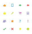 Colorful simple flat icon set 2 vector image