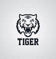 wild tiger logotype theme vector image