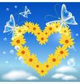 Daisy heart vector image vector image