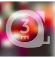 cartridges meters icon on blurred background vector image