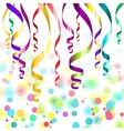 confetti and streamers vector image
