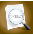 Examining a Contract vector image