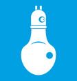 lamp icon white vector image