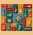 silhouettes of musical instruments vector image