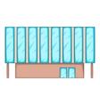 Solar battery building icon cartoon style vector image