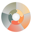 Colorful circle chart - infographic vector image