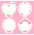 romantic frames scrap vector image
