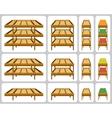 Shelves for shops vector image