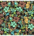 floral pattern green vector image