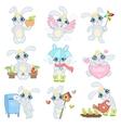 Adorable Bunny Set vector image