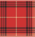 Check red tartan seamless pattern vector image