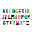 creative alphabet vector image