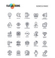 flat line icons design - business and finance vector image