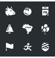 Icons Set of Race bulls in Spain vector image