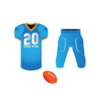 isolated football uniform vector image