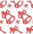 Jingle bells Seamless christmas pattern vector image