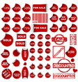 shopping promotional elements vector image