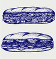 Submarine sandwich vector image