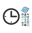 Time Flat Icon with Bonus vector image
