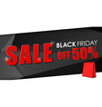 Design of web banner for sales on Black Friday vector image vector image