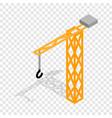 construction crane isometric icon vector image