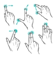 Touch interface gestures icons vector image vector image