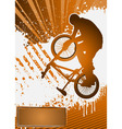 bmx cyclist poster template vector vector image vector image