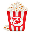 popcorn in a striped tub vector image
