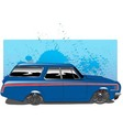 BlueWagon vector image